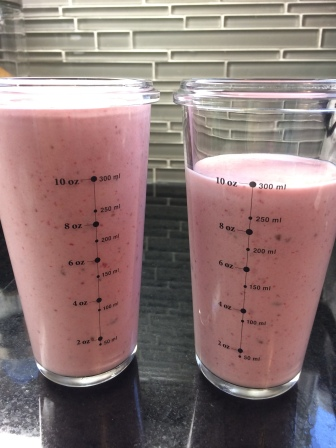 This makes 2 smoothies approximately, 11oz each